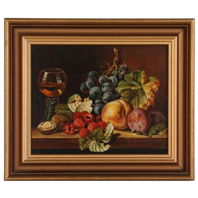 Scheibstock Still Life Oil Painting, Mid 20th Century