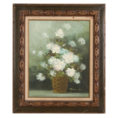 Robert Cox Floral Still Life Oil Painting
