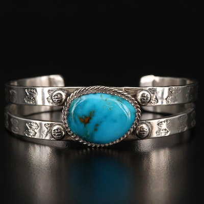 Sonny Spruce Sterling Silver Turquoise Cuff Bracelet