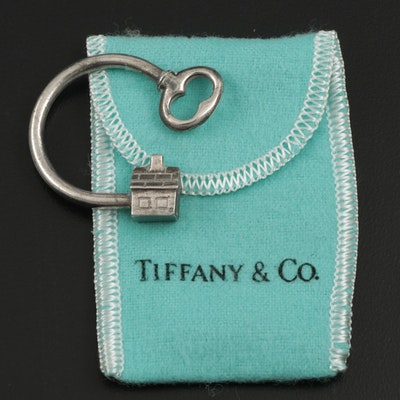 Tiffany & Co. Sterling Silver House Key Ring