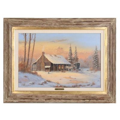 "Marianne Caroselli Oil Painting ""Second Barn"""