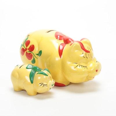 Hand-Painted Ceramic Piggy Banks