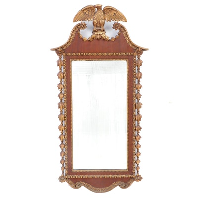 Federal Style Mahogany and Gilt Gesso Wall Mirror, Early 20th Century