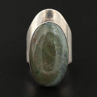 Mexican Sterling Silver Agate Ring