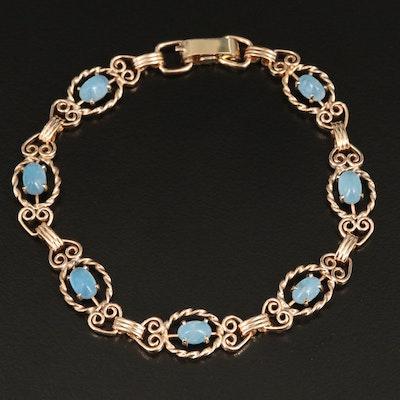 Vintage Krementz Aquamarine Bracelet