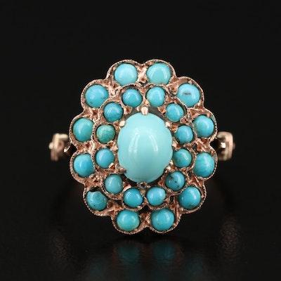 14K Gold Turquoise Ring