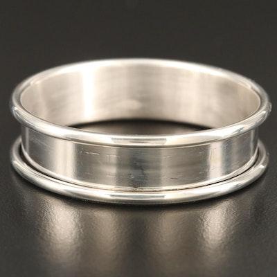 Web Sterling Silver Napkin Ring