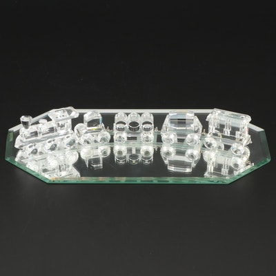 "Swarovski ""When We Were Young"" Six Piece Crystal Train Set with Mirror Track"