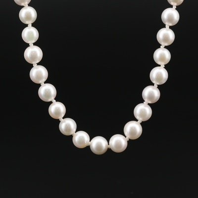 14K Gold Cultured Pearl Necklace