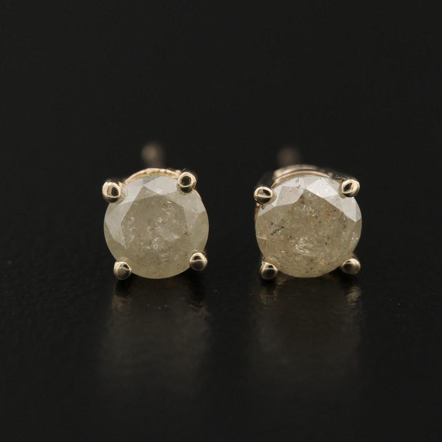 14K 0.93 CTW Diamond Stud Earrings