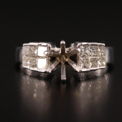 14K and 18K Diamond Semi-Mount Ring