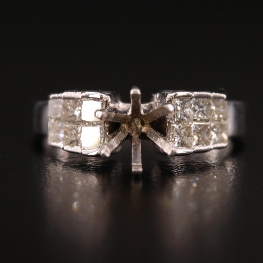14K and 18K Diamond Semi-Mount Ring