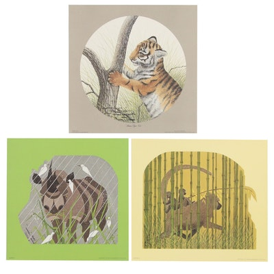 Imogene H. Farnsworth Animal Offset Lithographs, 21st Century