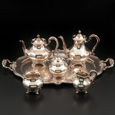 "Reed & Barton ""Regent"" Silver Plate Tea and Coffee Service with Tray"