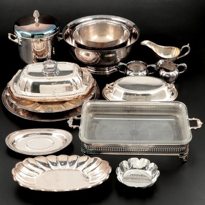 Silver Plate Reproduction Paul Revere Bowls and Other Serveware