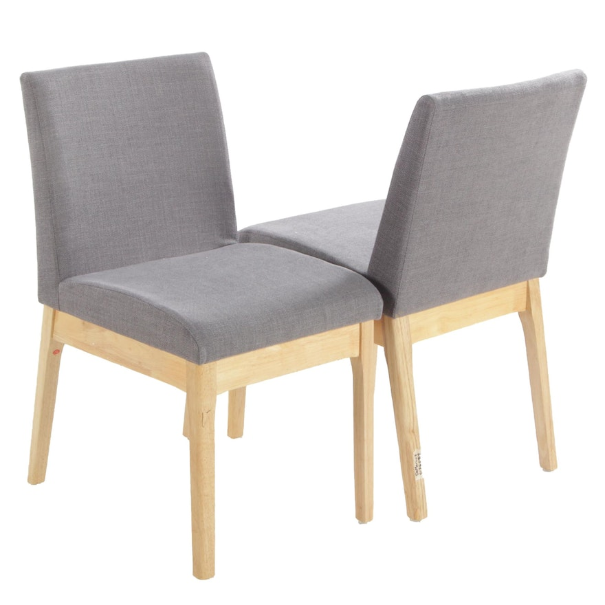 Pair of Noble House Home Natural Framed Side Chairs