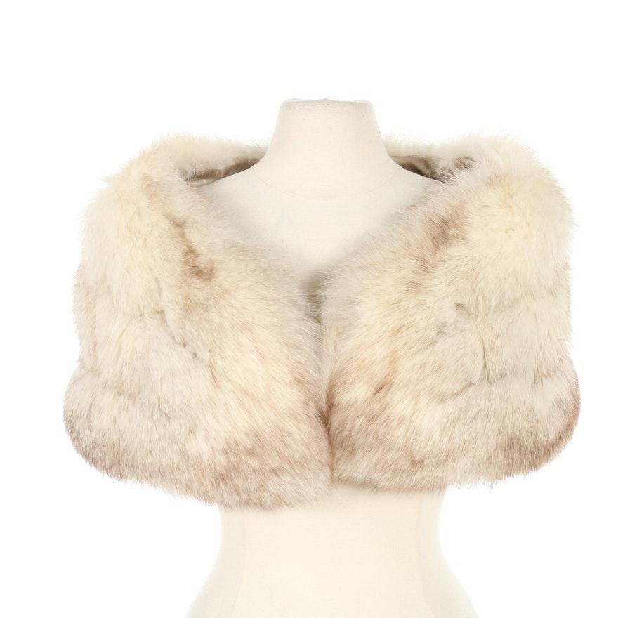 Blue Fox Fur Wedding Stole