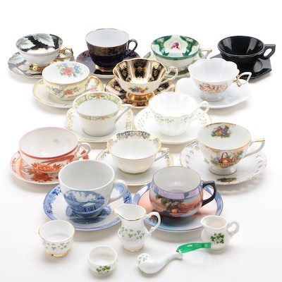 Hand-Painted Porcelain and Bone China Teacups, Saucers, and More