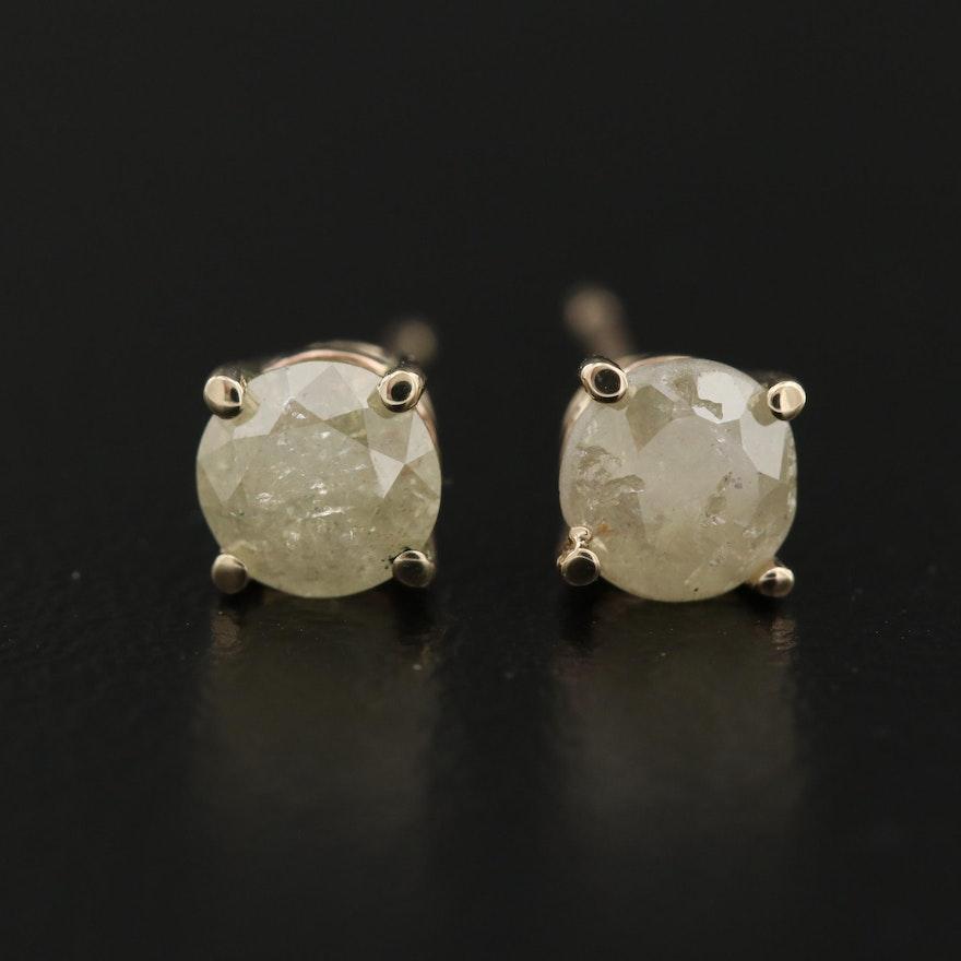 14K Gold 0.93 CTW Diamond Stud Earrings