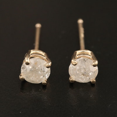 14K Gold 1.12 CTW Diamond Stud Earrings