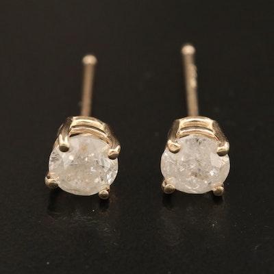 14K Gold 1.12 CTW Diamond Stud Earrings