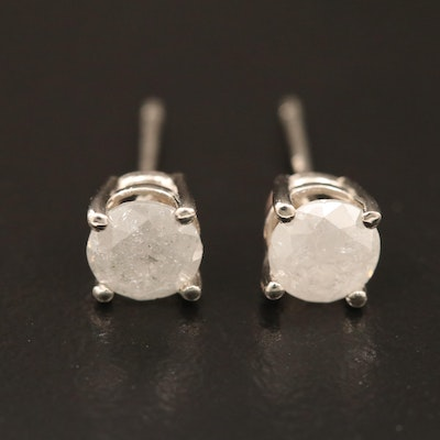 14K Gold 0.95 CTW Diamond Stud Earrings