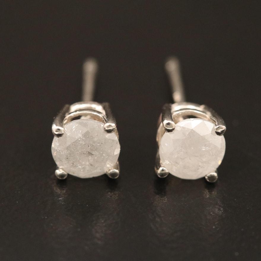 14K Gold 0.95 CTW Diamond Stud Earrings