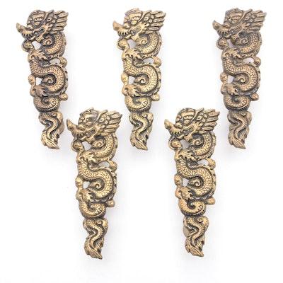 Thai Cast Brass Naga Cabinet Pulls