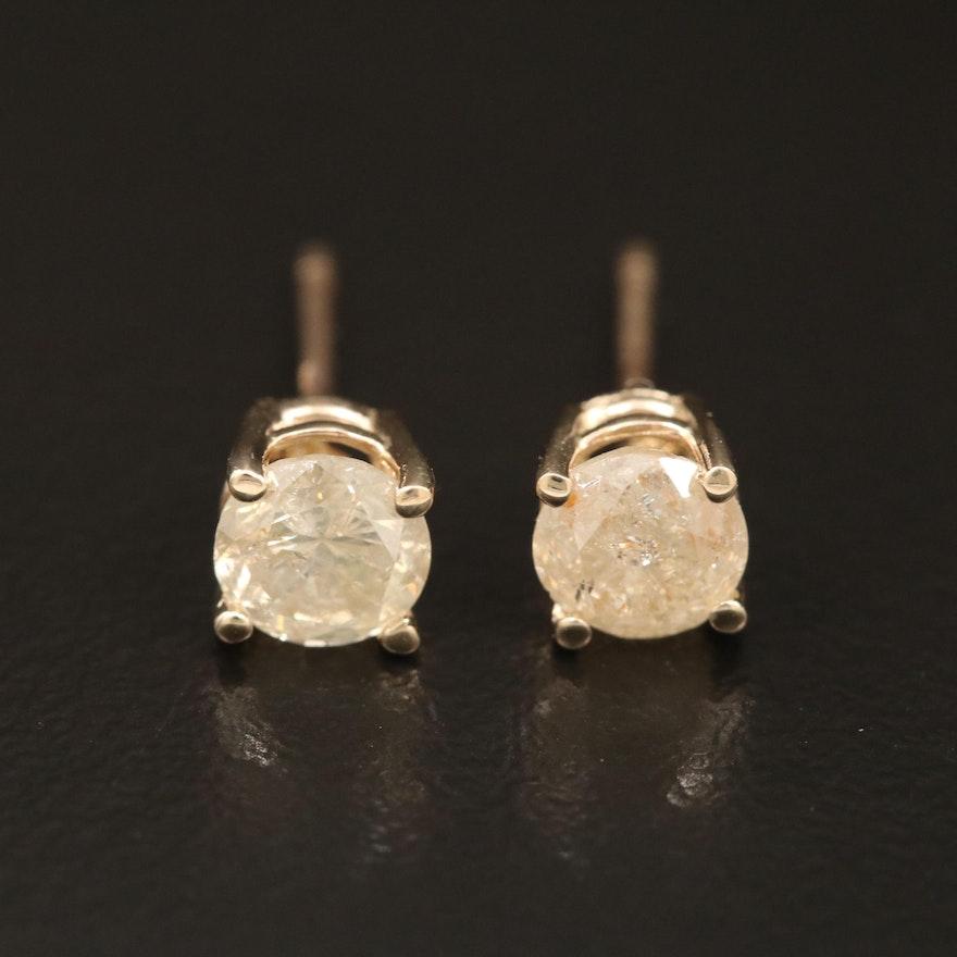 14K 0.94 CTW Diamond Stud Earrings