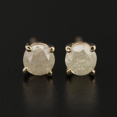 14K Gold 0.90 CTW Diamond Stud Earrings