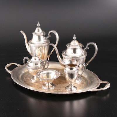 "Wm Rogers & Son ""Exquisite"" Silver Plate Tea Service"