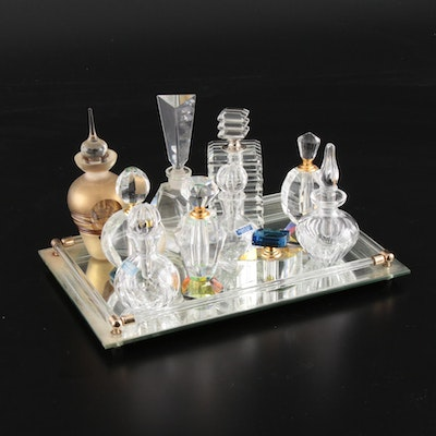 Marquis by Waterford and Other Crystal and Glass Perfume Bottles
