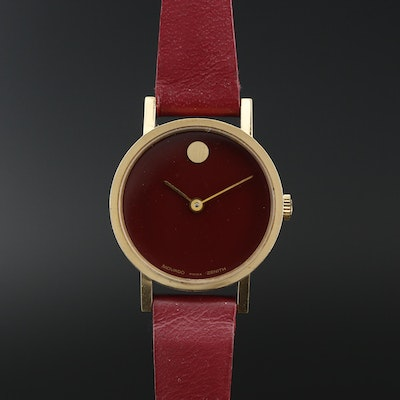 Movado Zenith Museum Gold Tone Stem Wind Wristwatch, Vintage