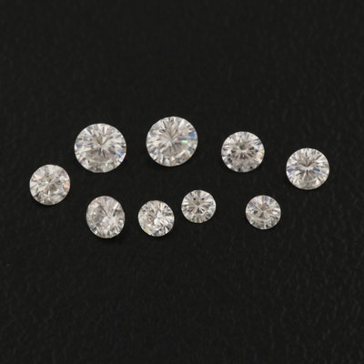 Loose 0.48 CTW Round Faceted Moissanite