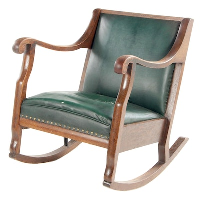 Arts & Crafts Oak Rocking Chair