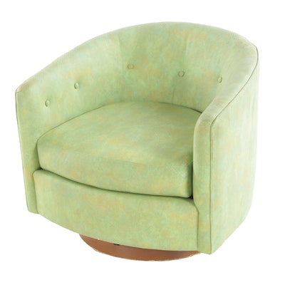 Milo Baughman for Thayer Coggin Swivel Tub Chair with Low Seat