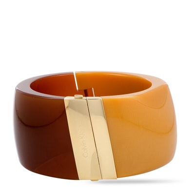 Calvin Klein Vision Yellow and Brown Gold PVD-Plated Stainless Steel Bangle Bracelet