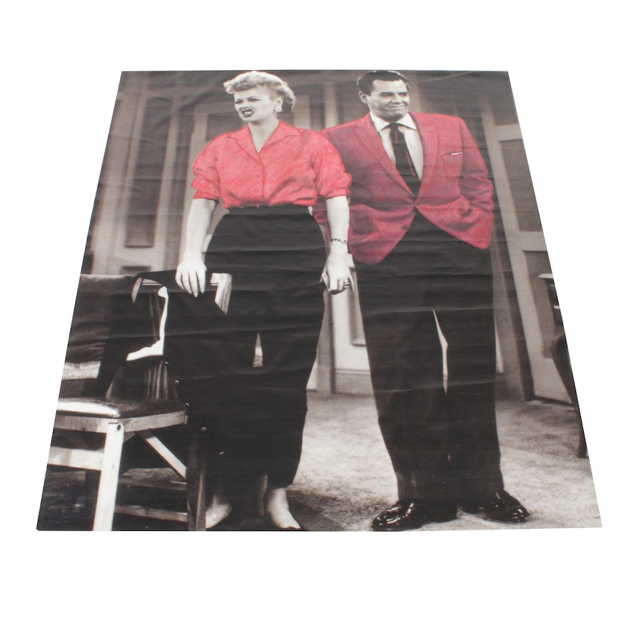 Universal Studios Giant Vinyl Graphic Backdrop Tarp from The I Love Lucy Museum