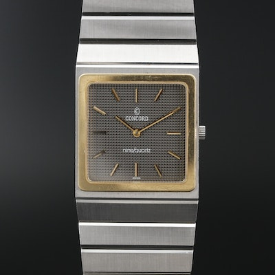 Concord Mariner SG 18K and Stainless Steel Quartz Wristwatch, Vintage