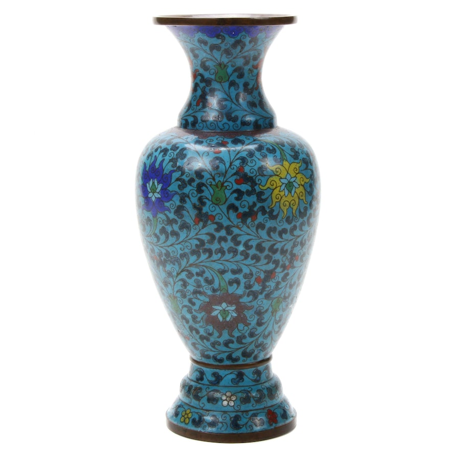 Chinese Cloisonné Vase, Early to Mid-20th Century