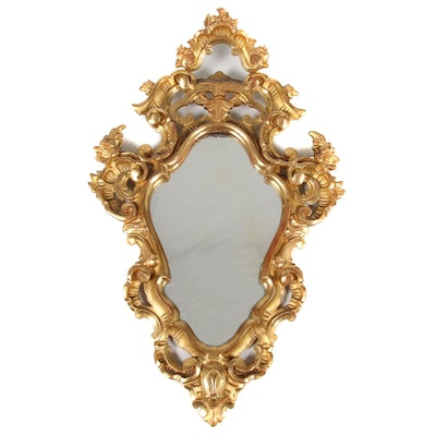 Rococo Composite Gilt Gesso Wall Mirror, 19th Century
