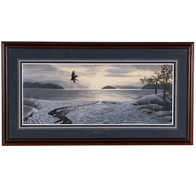 "Stephen Lyman Offset Lithograph ""North Country Shores"""