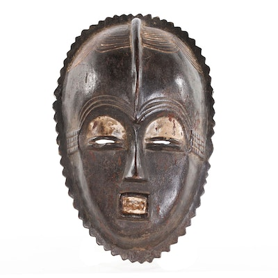 Luba Style Carved Wood Mask