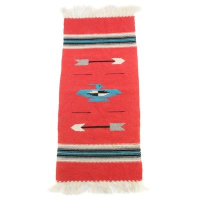 1'1 x 2'9 Southwestern Woven Wool Mat