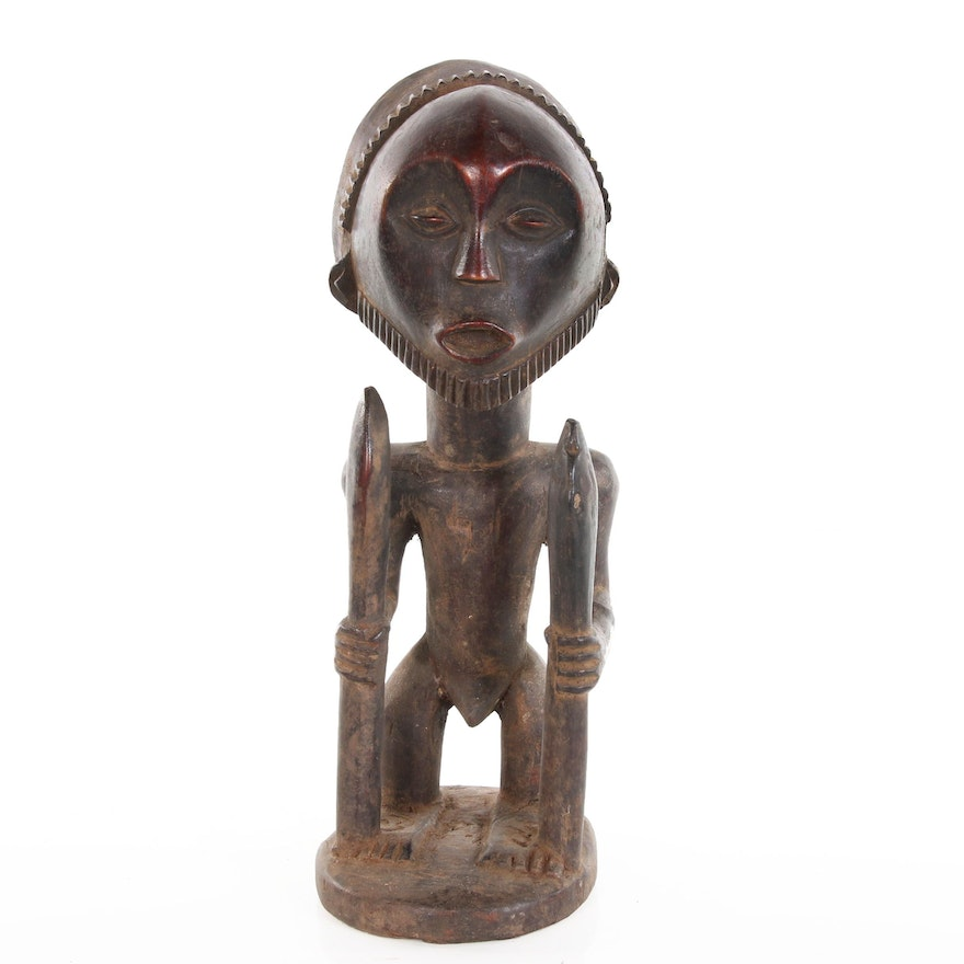 Fang Style Wood Carved Figural Sculpture, 20th Century