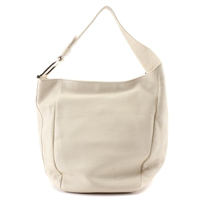 Gucci Greenwich Medium Hobo Bag in Off-White Pebbled Leather