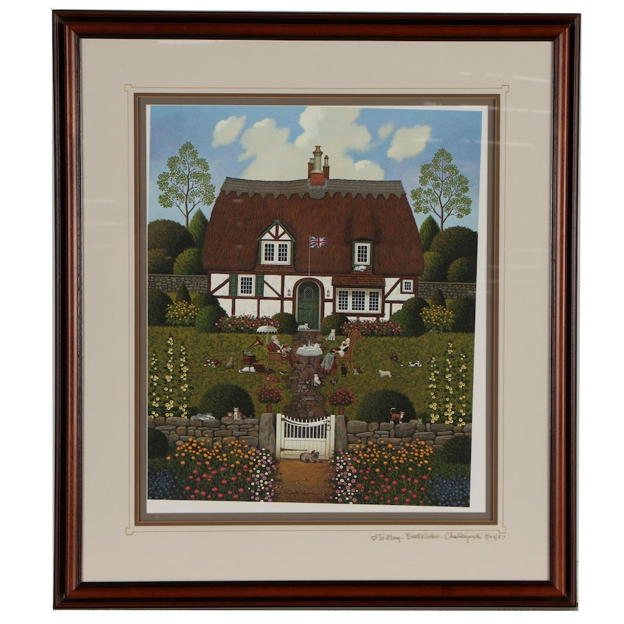 """Charles Wysocki Offset Lithograph """"Bach's Magnificat in D Minor"""""""