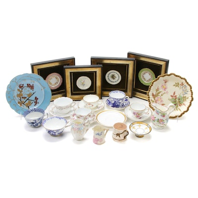 Minton, Royal Crown Derby and Other Porcelain Serveware and Wall Decor