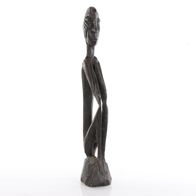 Kalimantan Wood Carved  Figural Sculpture, 20th Century