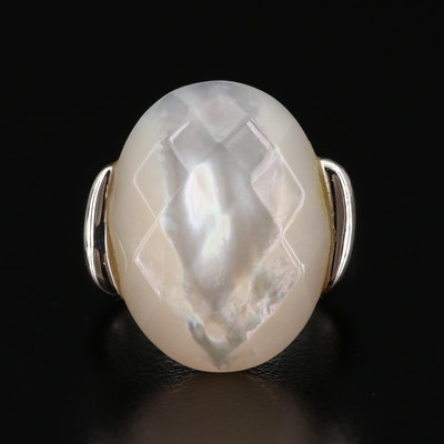 Michael Dawkins Sterling Mother of Pearl Ring